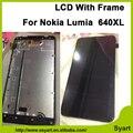 5.7 polegada para microsoft lumia 640 xl 640xl painel lcd assembléia tela de vidro lcd de toque digitador com frame + ferramentas gratuitas + rastreamento no.