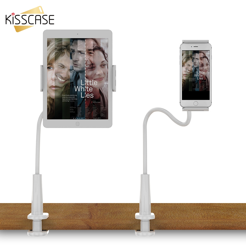KISSCASE Universal Phone Tablet Holders For iPad Air 2 Mini 2 3 4 Pro Lazy People Desktop Stand For iPhone X 8 7 6s 6 Plus 5 SE