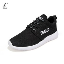 Plus Size Brand Men Women Sneakers Comfortable Quality Male Breathable Mesh Sports Running Shoes For Students Lace up Black