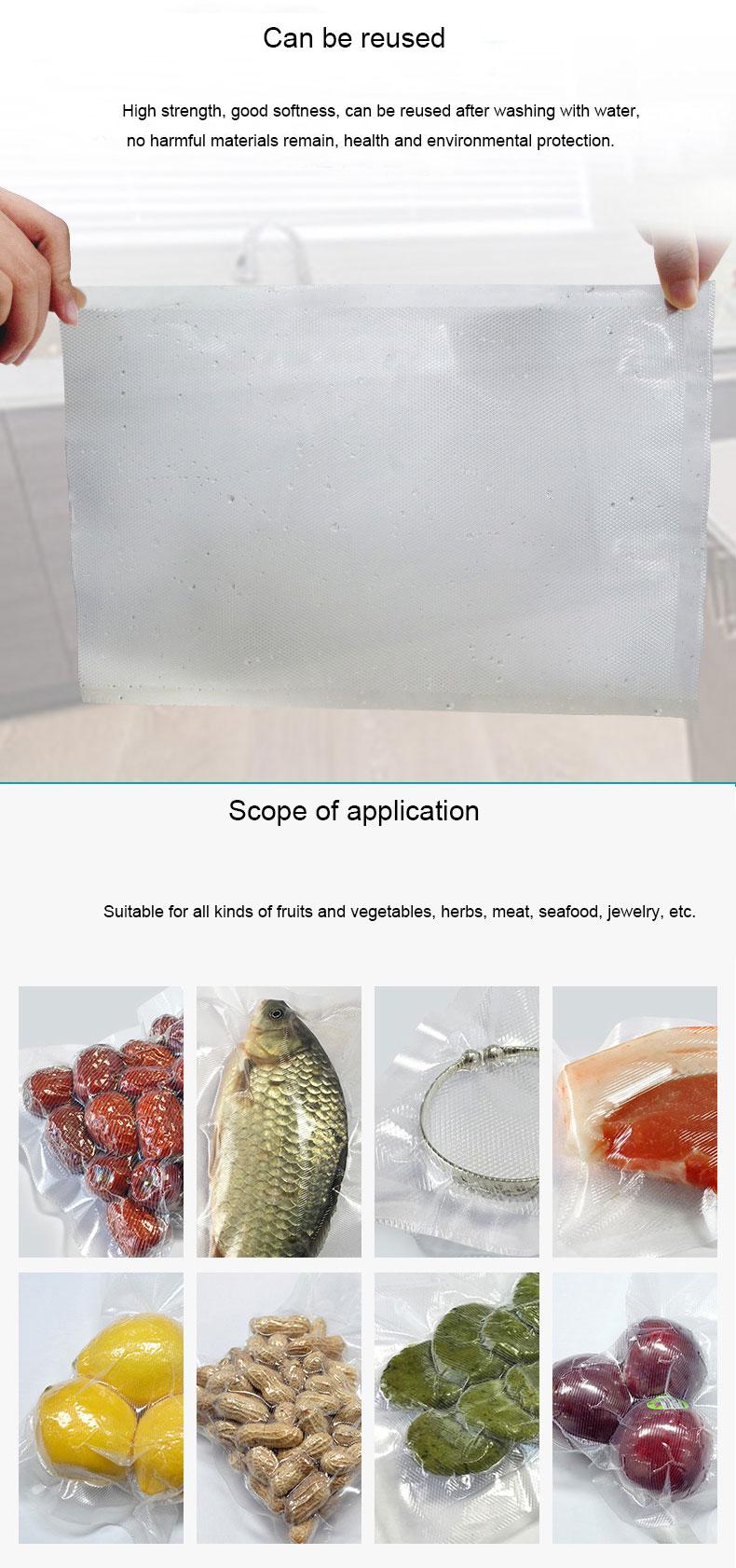 500cm Waterproof Food Vacuum Sealer Bag Suitable For All Type Of Fruit And Vegetable 10