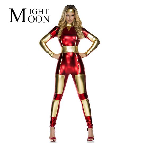 MOONIGHT Iron Man Ironette Costume The Most Popular Shiny Metallic Iron Man Suit For Women-in Movie u0026 TV costumes from Novelty u0026 Special Use on ...  sc 1 st  AliExpress.com & MOONIGHT Iron Man Ironette Costume The Most Popular Shiny Metallic ...