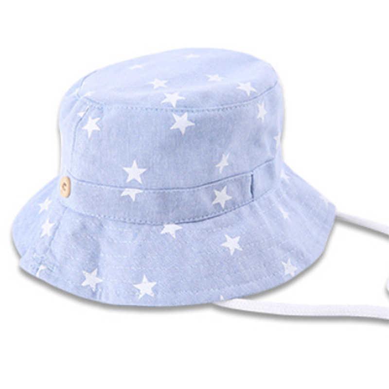 f477f736 ... OnnPnnQ Bucket Hat Baby Cowboy Sun Hat Kids Blue Jean Caps With Chin  Strap Kids Fisherman ...