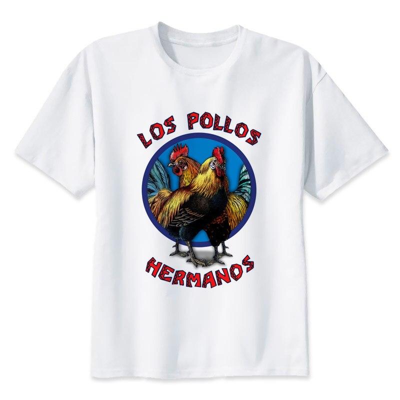 9a9f834e44 Hermanos pollos los pollos hermanos 2017 moda corta Camiseta impreso Funny t-shirt  hombres tops MR1097