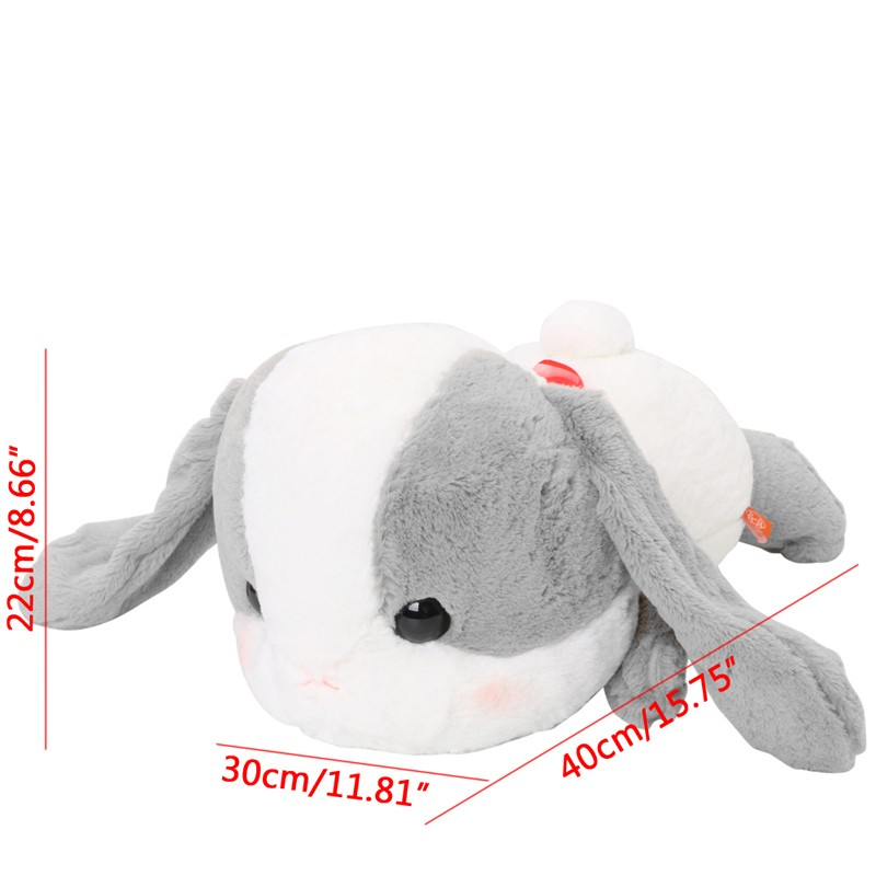 Pote Usa 15/'/' Brown Belly Flop Bunny Amuse Prize Plush NEW