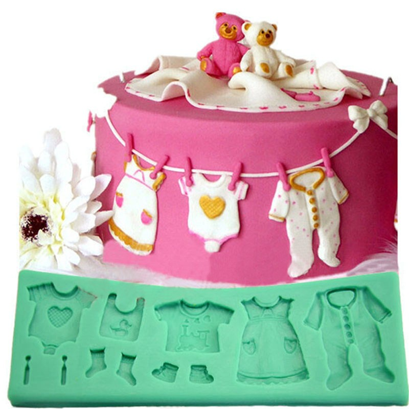 Cake Craft And Decoration Download Free : Aliexpress.com : Buy 3D Fondant Mould Baby Cloth Shape ...