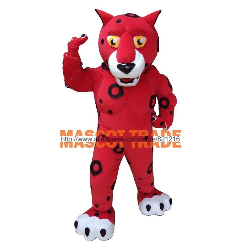 Красный талисман Тигра костюм персонажа маскарадный костюм для Хэллоуина вечерние мероприятия