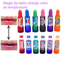 New Fashion Women's Makeup Change Color Cola sweet cute Moisturizer Faint scent Lip Balm Gloss Cola Lipstick 6 Colors