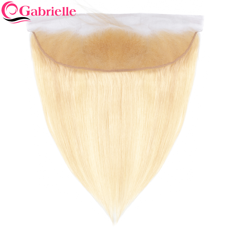 Gabrielle Weave-Extensions Frontal-Closure Human-Hair Blonde Brazilian Lace 13x4 613