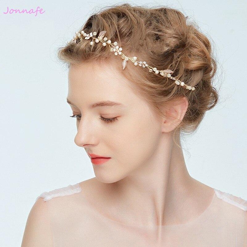 Jonnafe Blumen Haar Reben Stirnband Blattgold Kopfschmuck Hochzeit