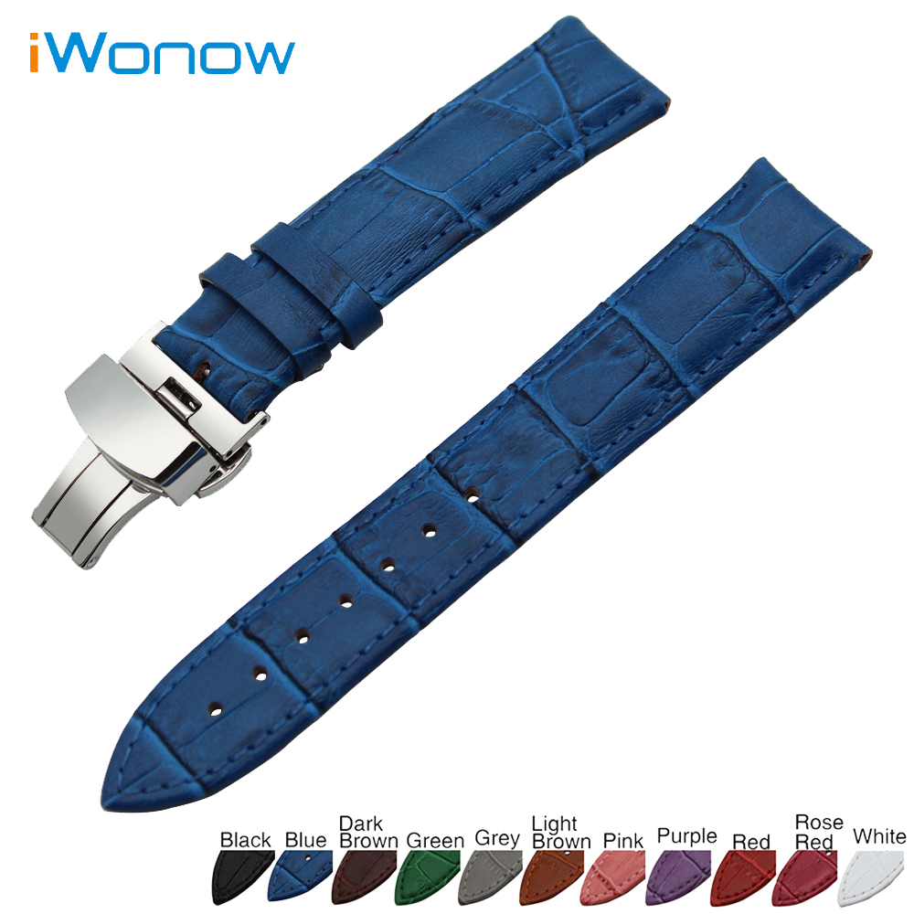 Genuine Leather Watch Band 18mm 19mm 20mm 21mm 22mm 24mm for Tissot 1853 Stainless Steel Buckle Strap Wrist Belt Bracelet maikes new product durable genuine leather watch band 19mm 20mm 22mm black casual watch strap stainless steel buckle for tissot