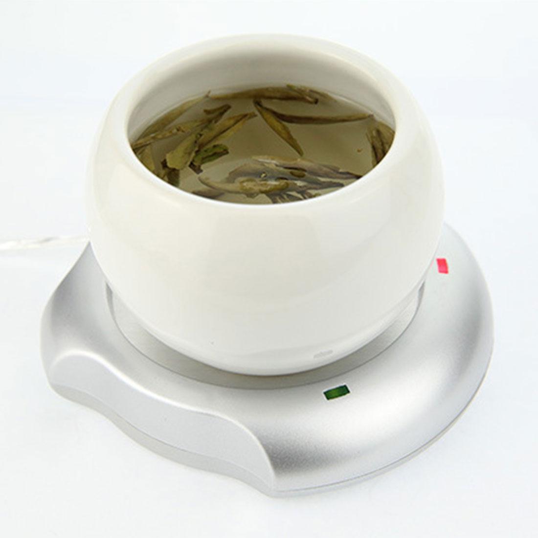Electric Coffee Mug Warmer with USB Charging Interface for Tea/Coffee/Milk Heating
