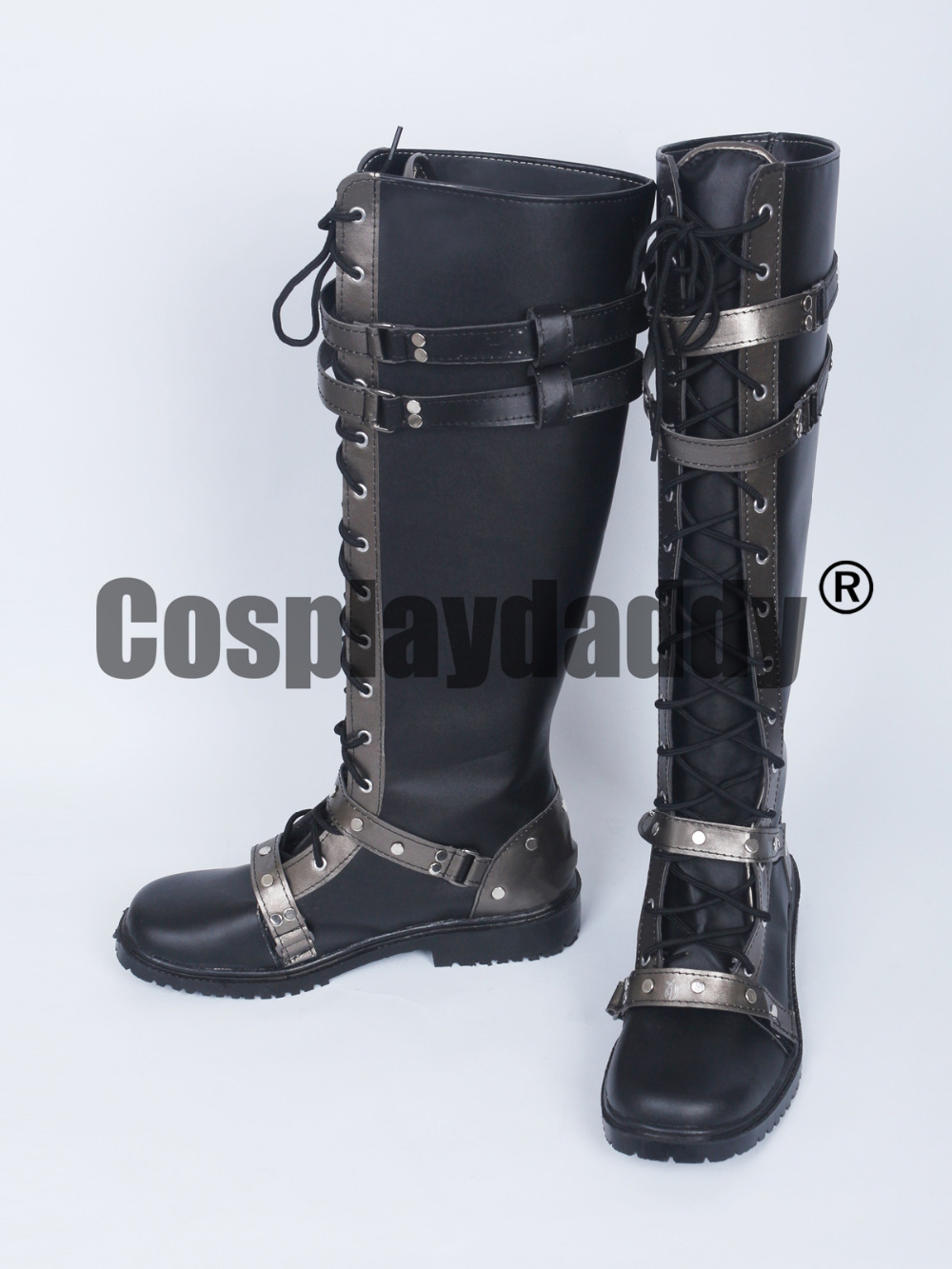 Kingsglaive Final Fantasy XV Nyx Ulric Black Long Cosplay Shoes Boots S008 ...