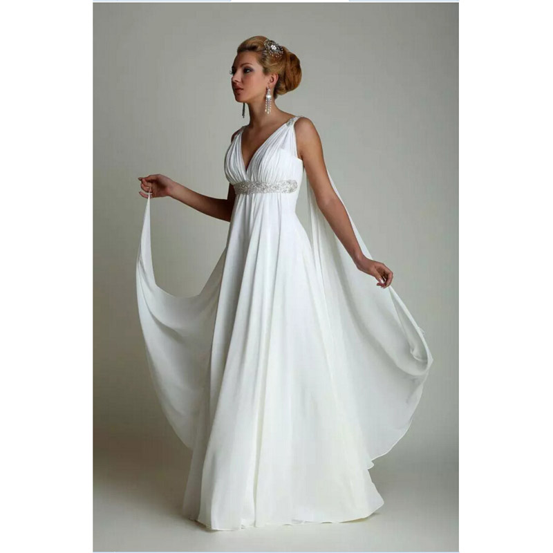 Grecian Style Wedding Gown: Greek Style Wedding Dresses 2017 Simple Plus Size Chiffon