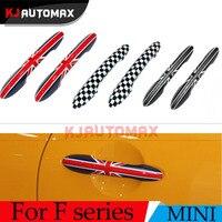 2 adet Araba Kapı Tokmağı Kapı kolu Shell Kapak Için Mini Cooper One S F55 F56 Clubman Dekorasyon Sticker Union Jack aksesuarları