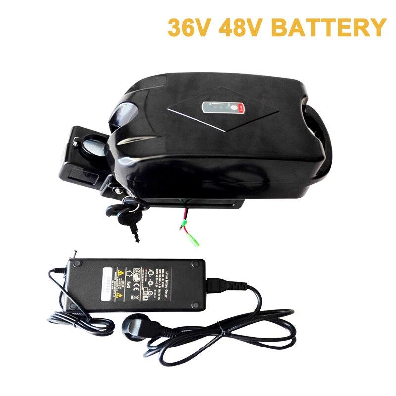 Batterie 48 V 10Ah 36 V grenouille Ebike combinaison de batterie pour Scooter électrique Velo Electrique utilisation Kit de Conversion de vélo installer tige de selle