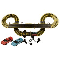 Hot Sell 435cm 1 43 Electric Rail Car Track Set Double RC Racing Kids Toys Boys