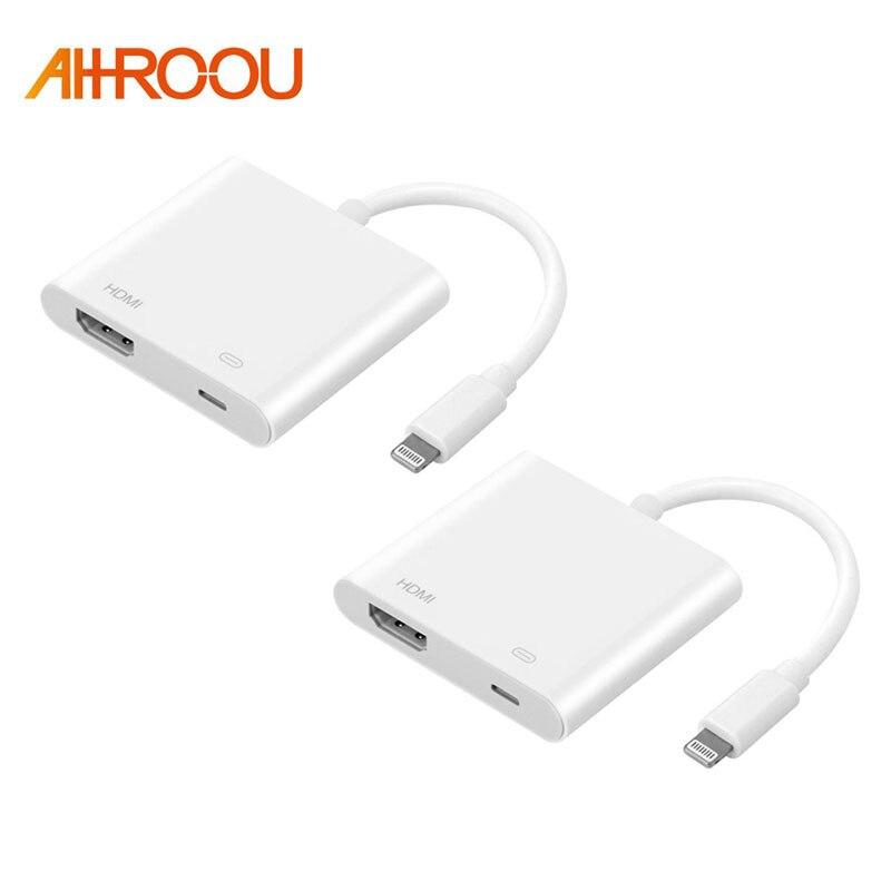 Light to AV HDMI/HDTV TV Digital Cable Adapter For iPhone to HDMI Converter For iPhone 7 6 5 5s For Lightning Digital AV Adapter
