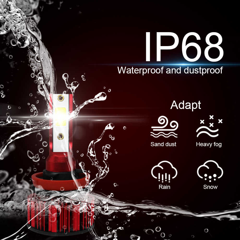 CROSSFOX 2Pcs LED H4 H11 H8 H9 9005 9006 HB3 HB4 9003 HB2 H7 LED Headlight Bulbs Auto Lights Car Lamps 12V 6000K COB Chips