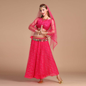 Image 5 - Luxury Indian Dance Costumes Sets Stage Performances Dress Orientale Belly Dance Costume Set For Women Oriental Dance Costumes