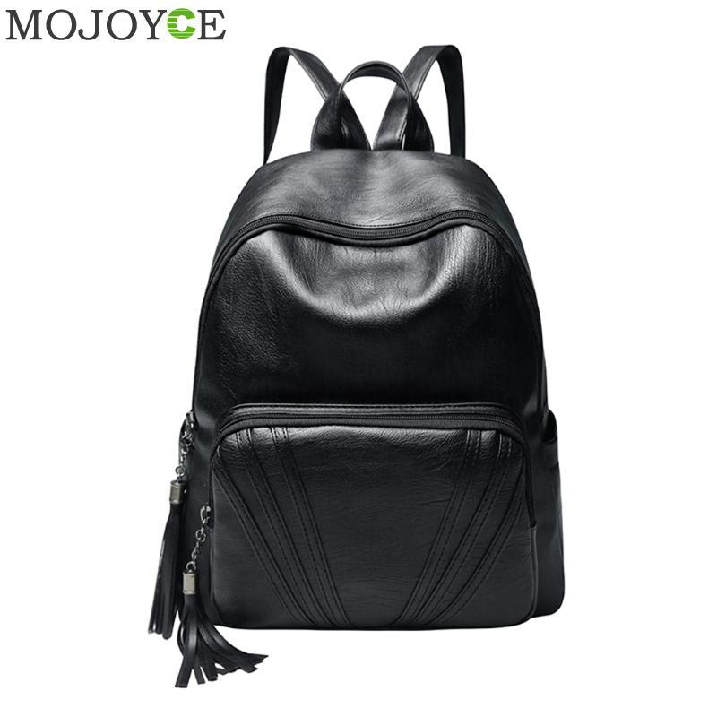 Soft PU Leather Backpack Solid Color Shoulder Bags Large Capacity Travel Backpacks for Women Famous Brand Backpacks Mochilas