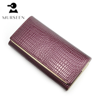 Fashion Women Wallets Leather Coin Purse Long Vintage Design Female Solid Clutch Luxury Brand Money Bag