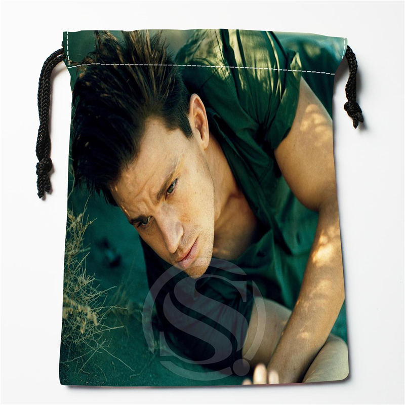 W-115 New Channing Tatum Custom Logo Printed  Receive Bag  Bag Compression Type Drawstring Bags Size 18X22cm E801eq115