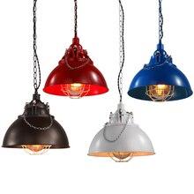 ФОТО loft vintage chandelier industrial american retro lamps personalized iron shop bar cafe pendant lamp lighting fixtures