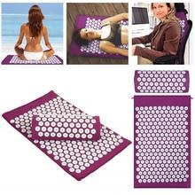 Massager (appro62*38cm)Cushion Massage Mat Acupressure Relieve Back Body Pain Spike Acupuncture Yoga Mat+Pillow