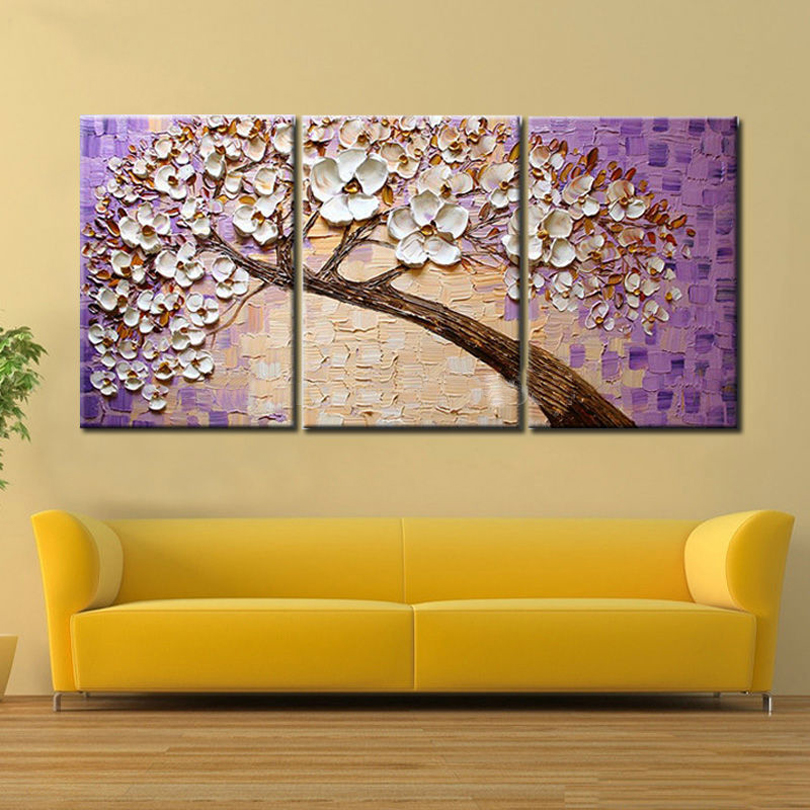 Lucky Tree Modern Abstract Oil Painting home decor wall art picture ...