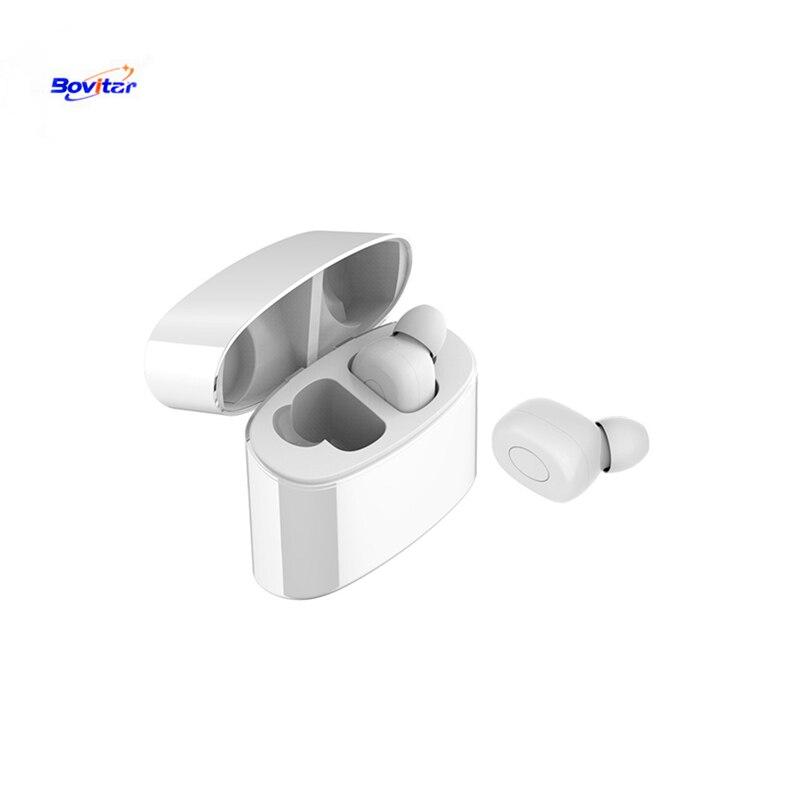 Bovitar nouveau TWS écouteurs sans fil Bluetooth écouteurs stéréo casque écouteur avec micro et boîte de charge pour Xiaomi Smart Phone