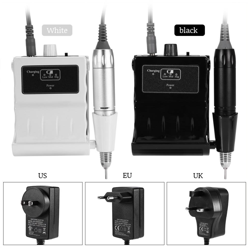 30000RPM Electric Nail Art Drill Manicure Pedicure Machine Nail Art Equipment with Drilling Grinding Pen Nail Drill Bits Set fashionable nail care pen type electric grinding machine