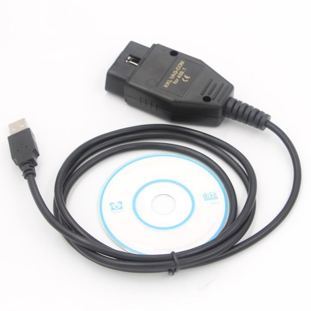 Obd2 cabo usb VAG-COM kkl 409.1 ferramenta de verificação do varredor automático para audi seat obd2 cabo usb acessórios do carro