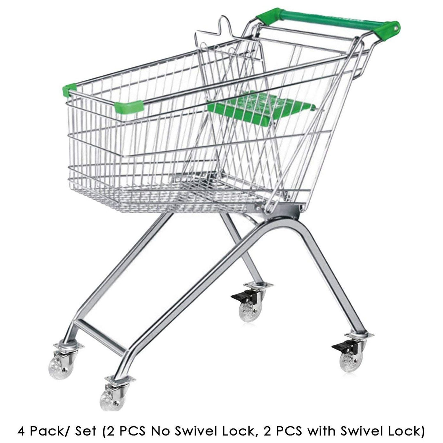 Casters Home Improvement Load Capacity 100kg Per Wheel 4 X Heavy Duty 75mm Swivel Castor Wheels Trolley Furniture Caster With Brakes