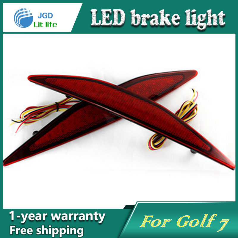 Car Styling Rear Bumper LED Brake Lights Warning Lights case For VW Golf 7 2013-2015 Accessories Good Quality купить