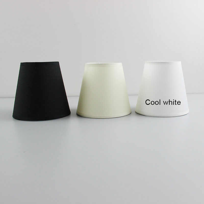 2PCS Modern Fashion white, black color  plastic lamp shade covers, PVC lampshades, E14 hole 3cm