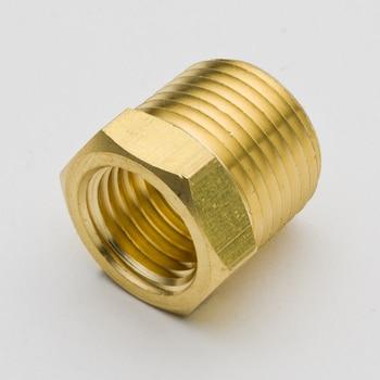 цена на Pack of 2 Brass Pipe Fitting Hex Reducer Bushing 1/4