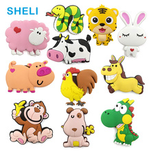 Cute Cartoon Chinese Zodiac animal silicone fridge magnet souvenir fridge refrigerators magnetic Kids home decor decoration