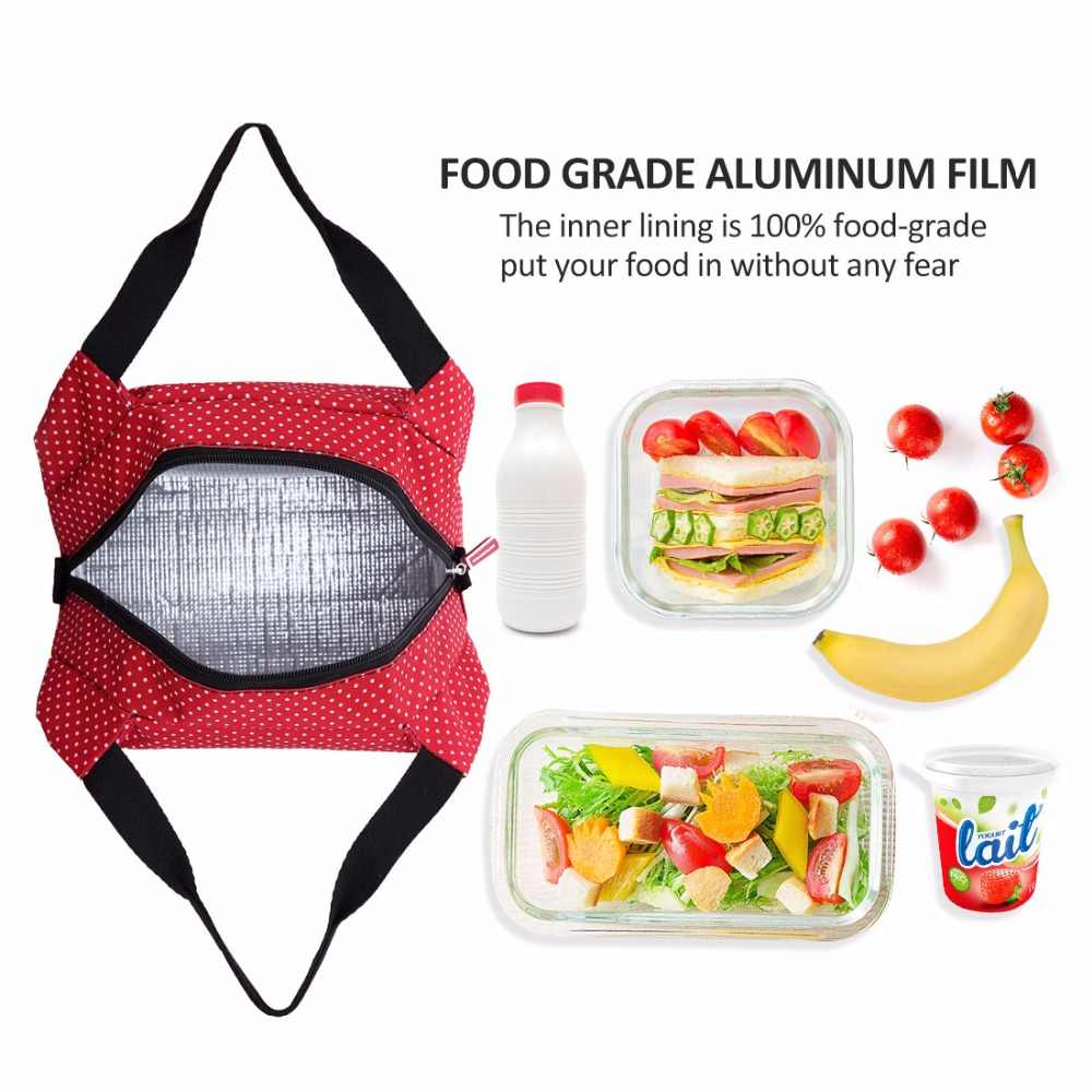 a59c50848ca8 ... AOSBOS Reusable Insulated Thermal Lunch Bag Women Men Multifunctional  6L Cooler And Warm Keeping Lunch Box ...