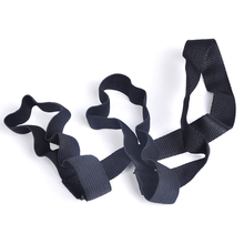 2018 Hot New Yoga Pilates Tapis Pad Exercice En Boucle Sling Harnais Épaule  Transport Strap Universel Durable Noir Livraison Gra. 4ef7ede0883