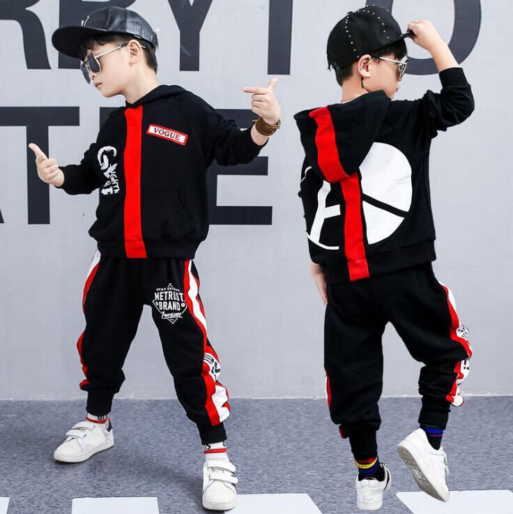 2 Pcs Fashion Children Clothes Set Boys Girls Autumn Hoodies + Haren Pants Cotton Map Tracksuit Vetement Garcon 8 10 12 14 Years