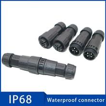 цена на 1Pc M19 Assembled Waterproof Electrical Cable Connector IP68 Male Female Plug Socket 2 3 4 5 6 7 8 9 10 11 12 Pins Connectors