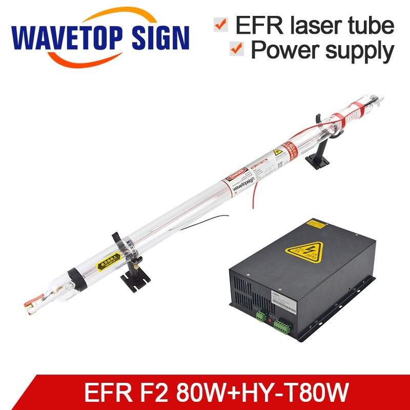 EFR laser tube F2 80 w + laser puissance boîte HY-T80 80 w ou MYJG 80 w CO2 Laser Tube utiliser pour la gravure laser et machine de découpe