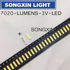 Image 4 - 1000PCS עבור LUMENS 7020 SMD LED חרוזים 3V 0.5W 150mA מגניב לבן LCD תאורה אחורית עבור טלוויזיה יישום SANE7020P 0W 2074