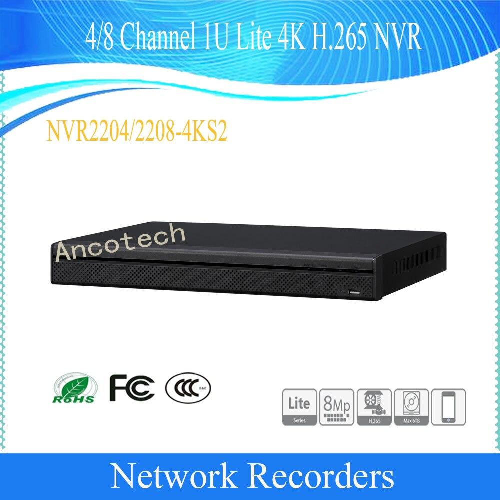 Il trasporto Libero di Sicurezza 4/8Ch 1U Lite 4 K Video di Rete Recorde Inglese NVR H.265 8MP DHI-NVR2204-4KS2/DHI-NVR2208-4KS2Il trasporto Libero di Sicurezza 4/8Ch 1U Lite 4 K Video di Rete Recorde Inglese NVR H.265 8MP DHI-NVR2204-4KS2/DHI-NVR2208-4KS2