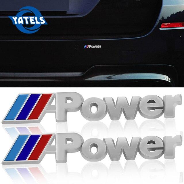 2x Car Sticker Wing Side Emblem Badge Rear Trunk Logo Decal For Bmw