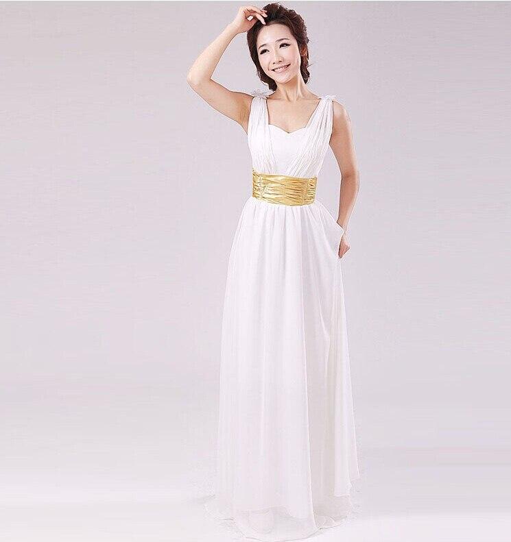 Goddess Wedding Gown: Custom Made Greek Goddess Concise Slim Waist White Wedding