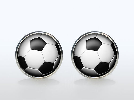 Trendy Sport Round Cufflinks Silver Plated Retro Dome French Cuff Mens Wedding Golf Ball