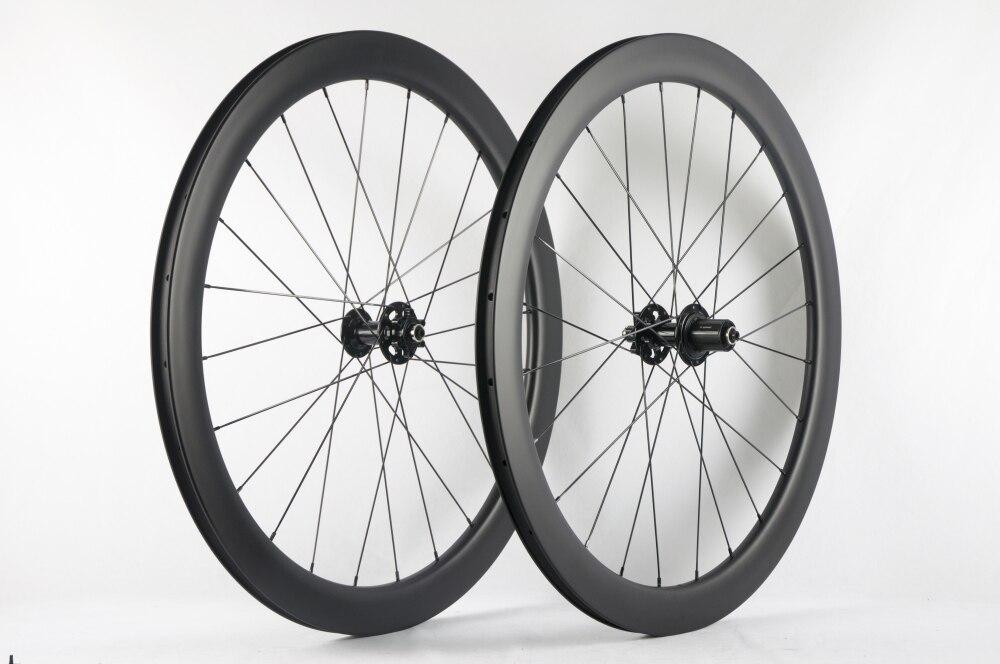 Frein à disque carbone route vélo roues 6 moyeux 23mm largeur UD 3 k pneu chinois carbone vélo roues
