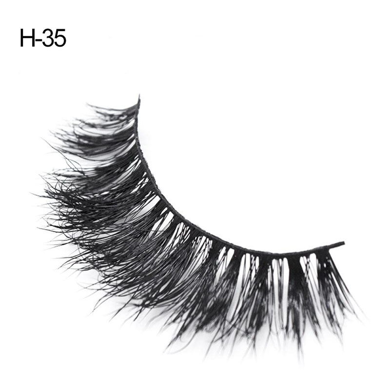 False Eyelashes Mink Lashes Silk Soft Faux Cils Natural Demi Wispies Eyelashes 3D Russian Volume False Eyelashes