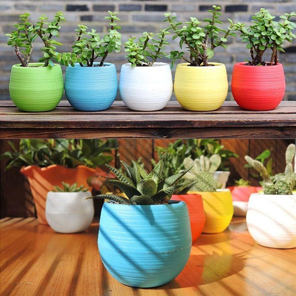garden home office self build photos list 5pc small round flower pots home garden office decor planter plastic